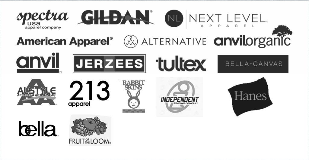 brand names for custom shirt printing screen printing spectrum apparel printing
