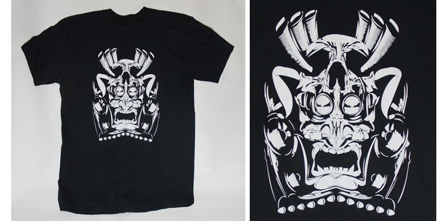 skull shirt screen print