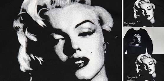 marilyn monroe screen print using halftones