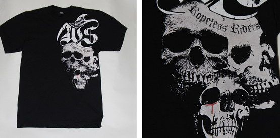 unique skull shirt designed at spectrum apparel printing